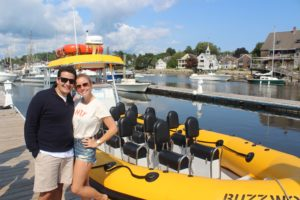 Danny and I with a boat