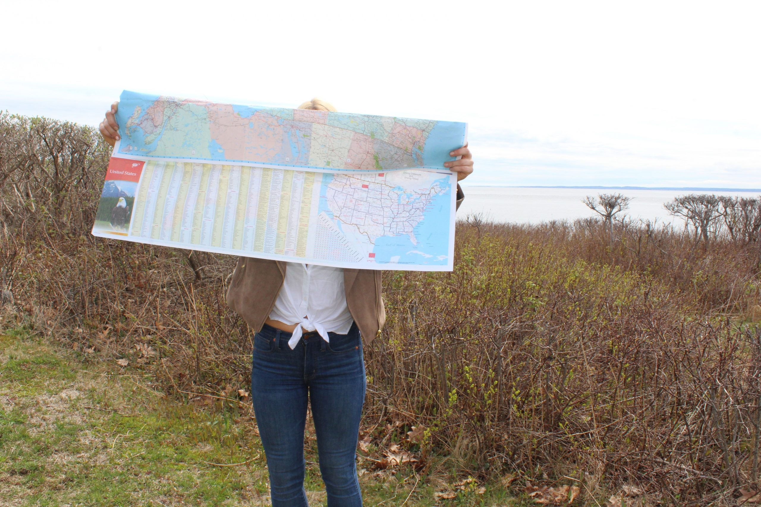 Looking at a map of Maine