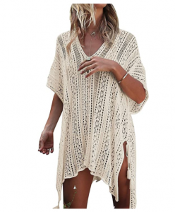 A very cute white/beige beach cover up