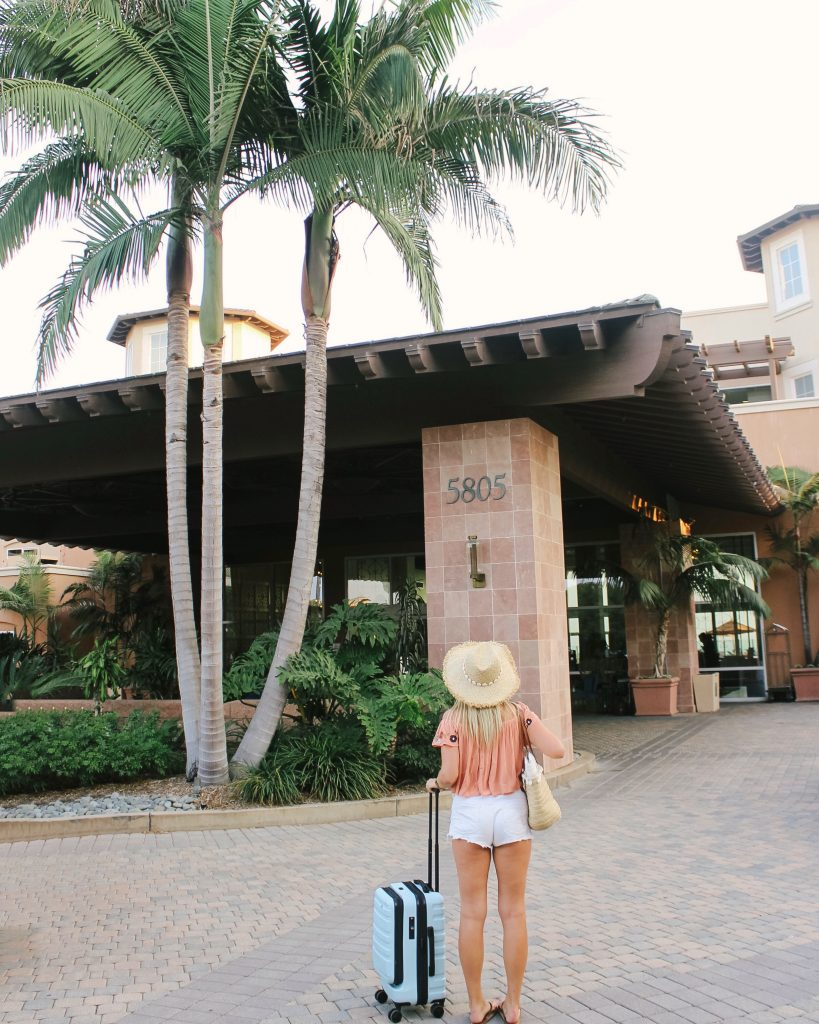 Arrival at the lobby at The Cassara Carlsbad