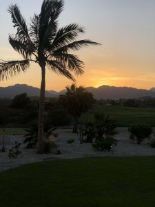 Sunset at the hotel in San Jose Del Cabo