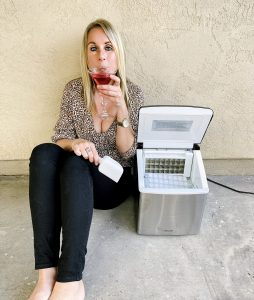 An at home ice maker to create a delicious cocktail