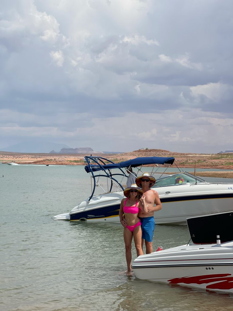 Boating on Lake Powell in Page, AZ
